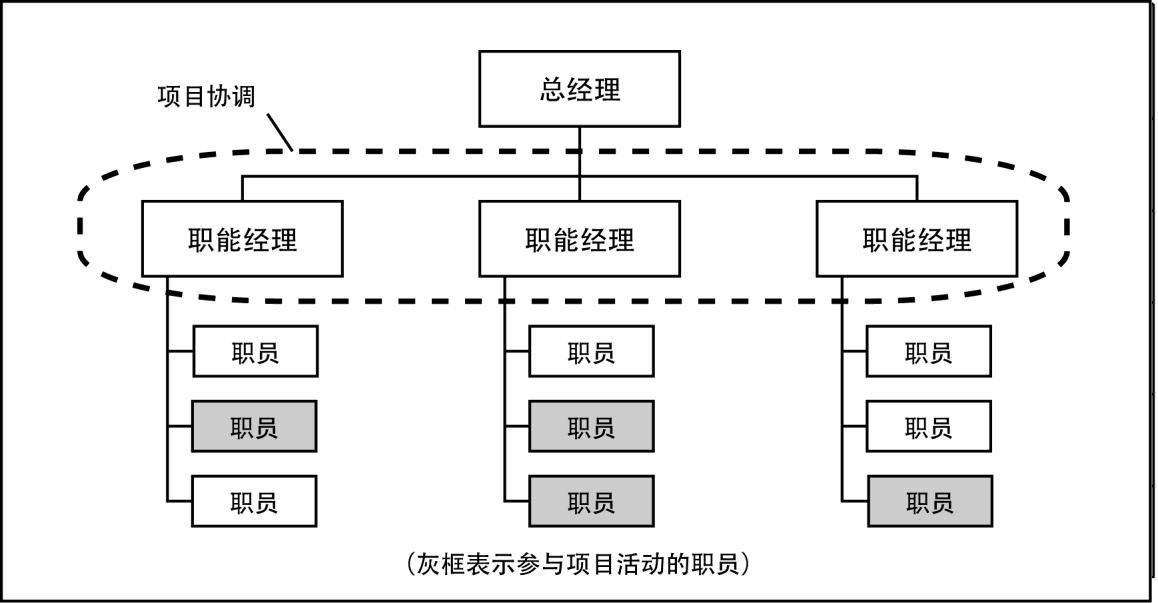 3 什么是项目管理  如图2-1所示,典型的职能型组织是一种层级结构